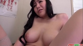 Busty Miu Watanabe gets working with a very cock - More at Japanesemamas.com