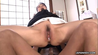 Cumming inside the boss ladie's wet and eager pussy