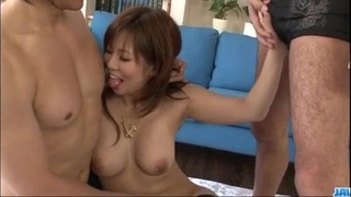 Konatsu Aozona bends over for two strong dicks - More at Javhd.net