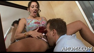 Horny mature is avid about schlong
