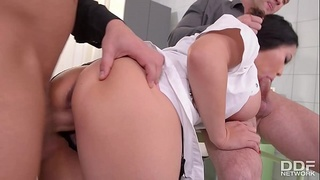 Big Titty Asian Nurse Tigerr Benson gets Double Penetrated