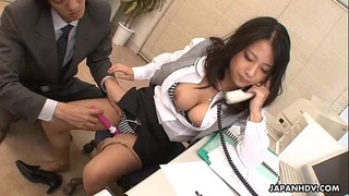 Asian bitch getting her pussy stuffed during her call