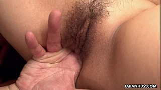 Threesome fuck with one hairy yet desirable horny AsianThreesome fuck with one h