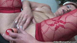 squirting,grandmother,older,old,stockings,mature,gilf