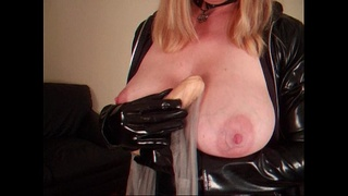 latex,insertion,bigtits,solo,boots,teasing,fetish