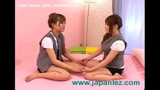 Japanese Lesbians Have Some Good Old Fashion Bedroom Fun