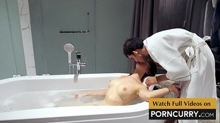 Porncurry - Indian Sex Scandal Desi Boy in Bath Tub with young Japanese girl