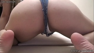 Busty Japanese Nice Buttocks Wedgie Camel Toe on Camera