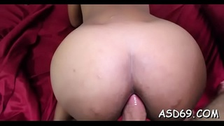 Thai angel grinds on a cock and gets it in her pussy and anal