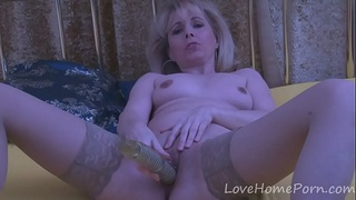 stockings,homemade,amateur,mature,toy,blonde,sex