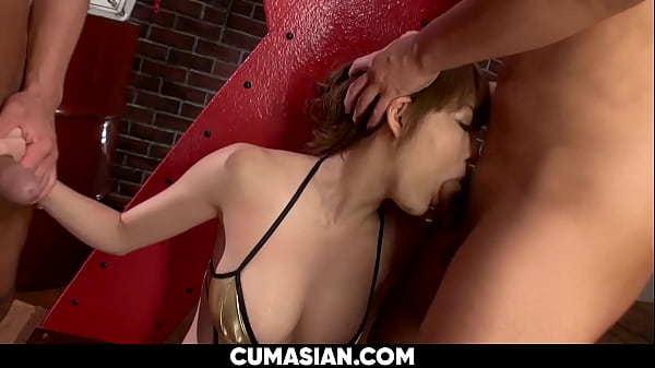 Busty Japanese Gets a Multiple Facial Cums and Squirts [UNCENSORED]